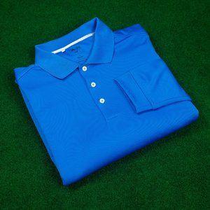 adidas Climalite Long Sleeve Blue Polo